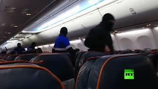 لحظة اعتقال خاطف الطائرة الروسية