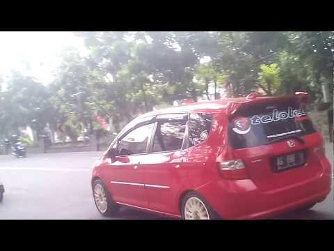 Telolet Panjang Mobil Honda Jazz Di Nganjuk