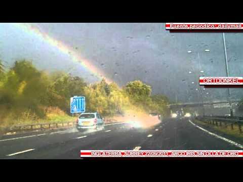 Fotografian el final de un Arco iris en Inglaterra 22/09/2011