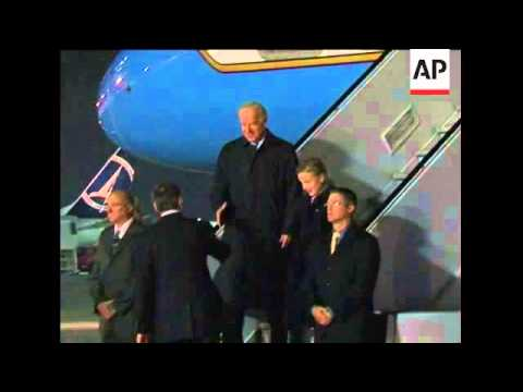 US Vice President Biden arrives in Romania