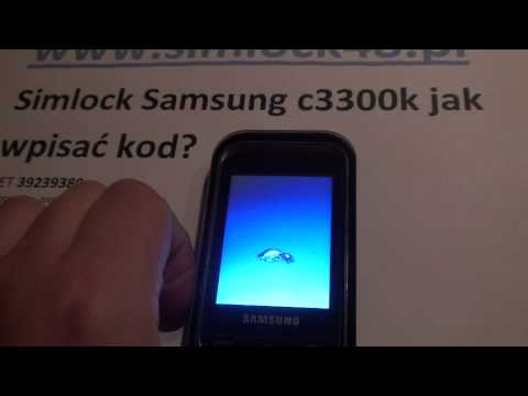 Simlock Samsung c3300k jak wpisać kod. Unlock Samsung c3300k