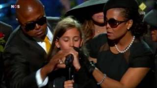 Michael Jackson Memorial - Daughter Paris speech