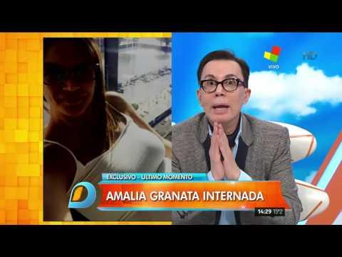 Amalia Granata fue internada por una infección renal