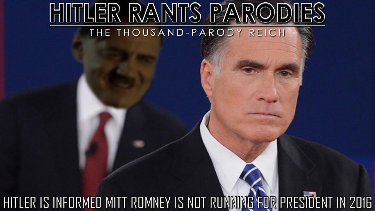 Hitler is informed Mitt Romney is not running for president in 2016