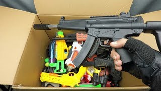 Box of Toys ! Realistic Toy Rifle AK-47 Funny Toy Guns and Beaded Pistols
