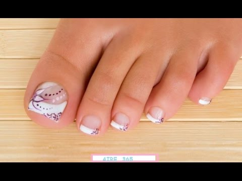 modelo de uñas para pies faciles de hacer