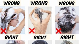 Common Hair-Washing Mistakes We All Make -Learn Professional Way To Wash Your Hair