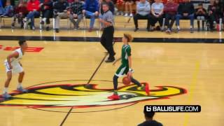 LAMELO BALL GETS DESTROYED AT HALF COURT! BLOCKED!