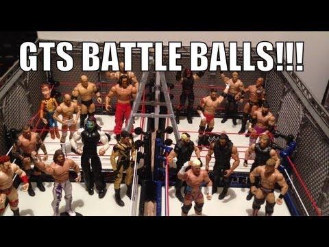 GTS WRESTLING: BATTLEBALLS! Figure matches animation! WWE Battleground parody Mattel Elite figures