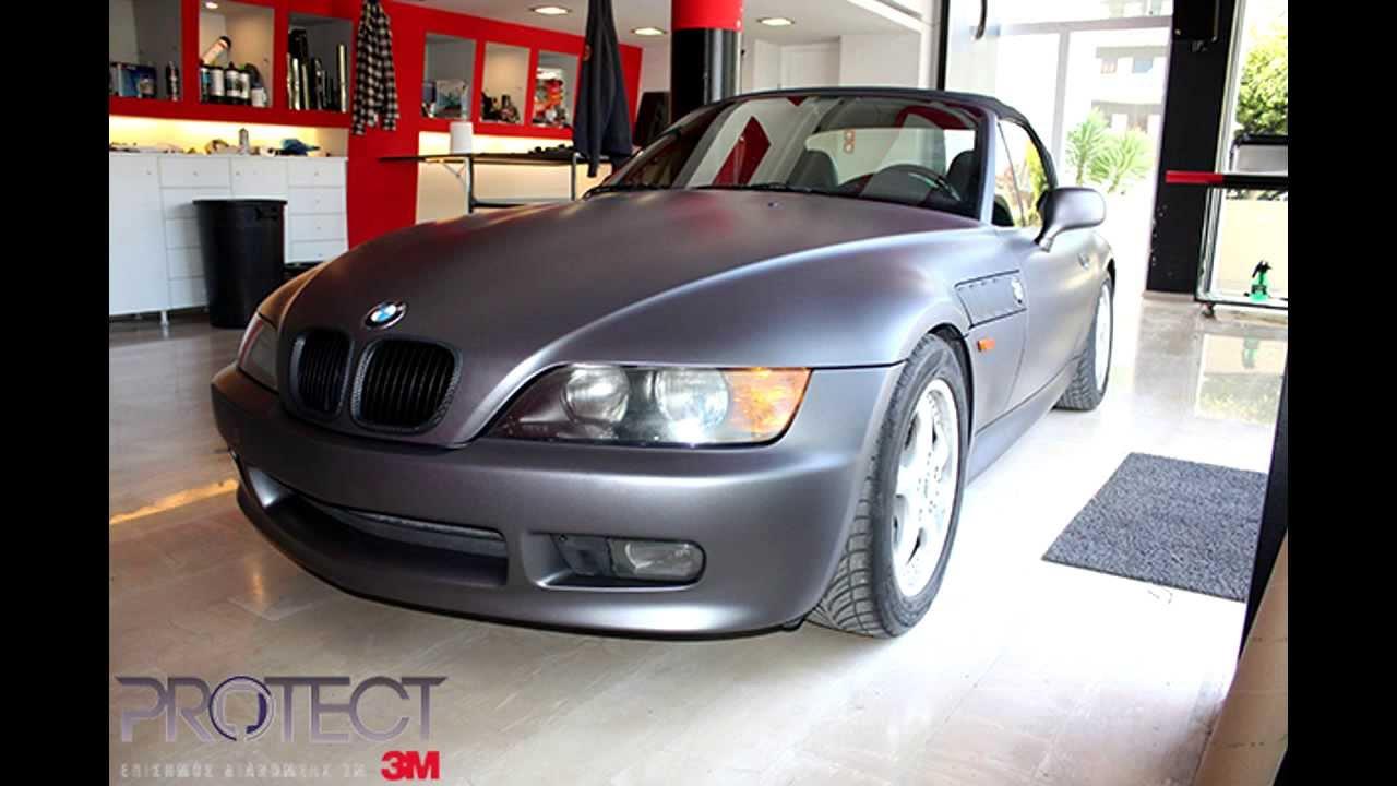 3m Protect Car Wrap Bmw Z3 With 3m Matte Dark Grey Youtube