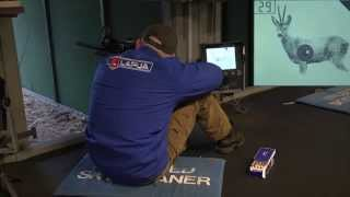 Shooting from sitting position at 200 meters distance