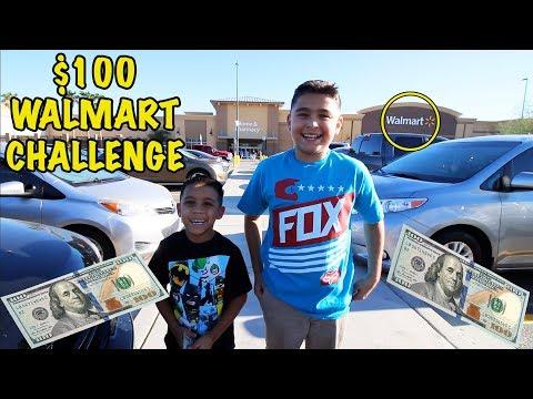 $100 WALMART CHALLENGE   D&D SQUAD CHALLENGES