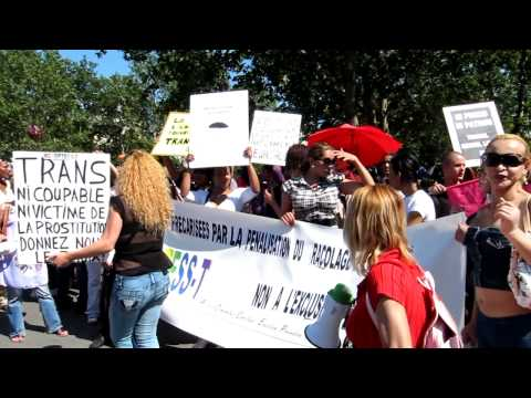 Paris, France, Prostitute, Sex Workers Protest.mov
