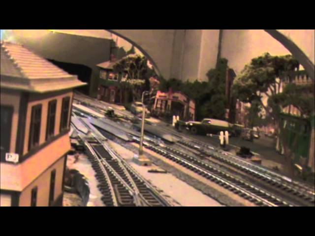 HO Scale Model Train Layout 1955 Trip West on Pennsylvania Railroad