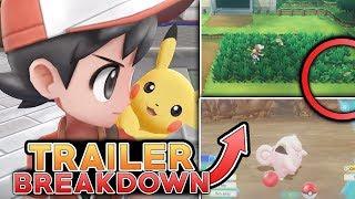 Pokemon Let's Go Pikachu & Let's Go Eevee - NEW TRAILER BREAKDOWN! EVERYTHING YOU MISSED!