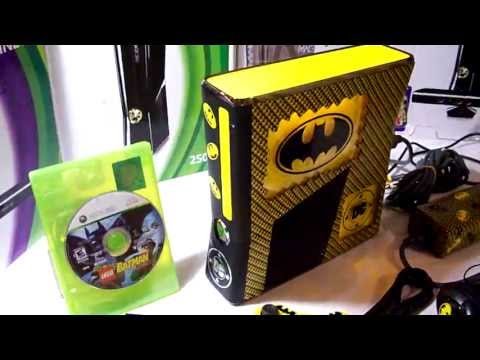 Xbox 360 Slim Console Mods Custom Batman Xbox 360 Slim