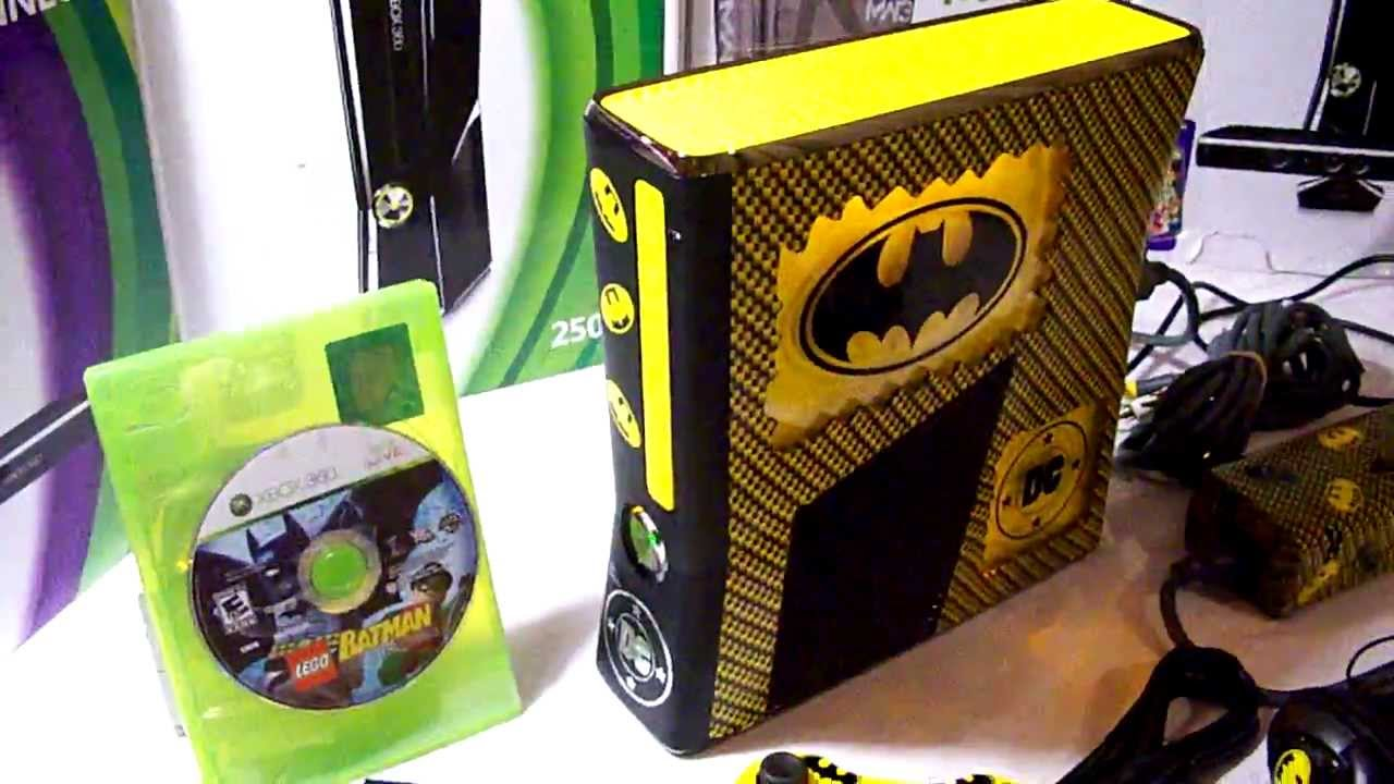 CUSTOM BATMAN XBOX 360 SLIM