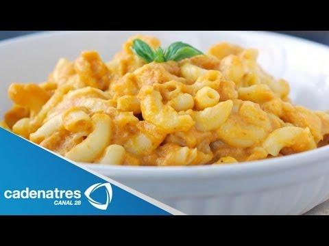 Receta para preparar mac and cheese. Receta de macarrones con queso / Macarrones
