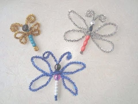 Crafts for kids how to make a beaded dragonfly or for Bead craft ideas for kids