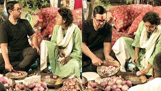 Aamir Khan And Kiran Rao COOKING FOOD For Thousands Of People
