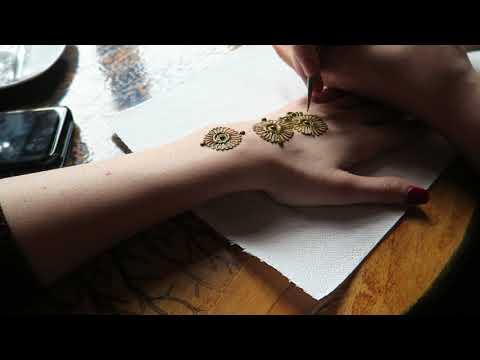 SIMPLE HENNA DESIGN- How to make a henna tattoo