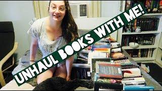 KONMARI-ING MY TBR! Unhaul books with me!