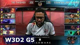 100 vs CLG | Week 3 Day 2 S9 LCS Spring 2019 | 100 Thieves vs CLG W3D2