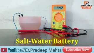 "How to make Salt Water Battery ""Vinegar Battery"" at Home"