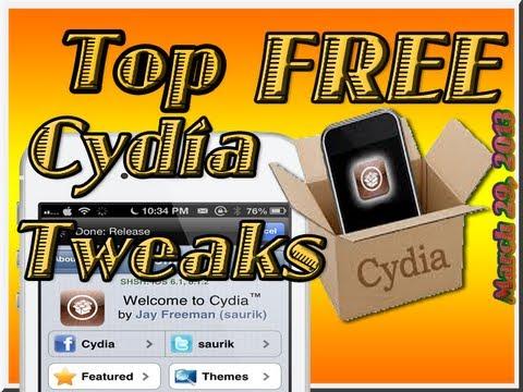 Top Five [FREE] Cydia Tweaks Evasi0n Jailbreak iOS 6. 6.1. 6.1.1. 6.1.2 Released 3/29/13