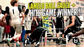 LaMelo Ball EXTRA SAUCY & Hits GAME WINNER w/ Lonzo & LiAngelo Watching!!!