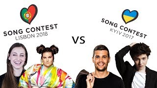 Eurovision 2018 vs 2017 [my opinion]