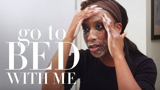 Jackie Aina's Nighttime Skincare Routine | Go To Bed With Me | Harper's BAZAAR