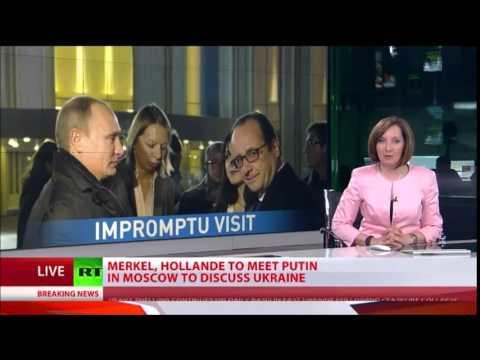 MERKEL, Hollande, Putin to Discuss END to Ukraine's Civil WAR at Moscow TALKS