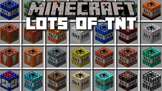 Minecraft TOO MUCH TNT MOD / GOD TNT's, DYNAMITE AND FIREWORKS!! Minecraft