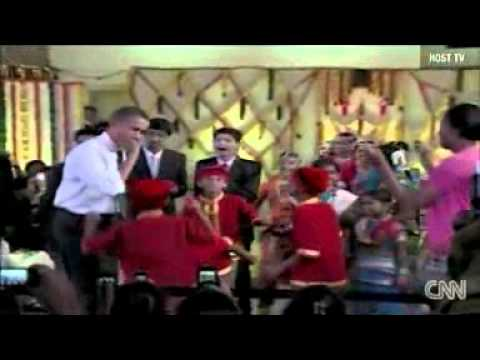 OBAMA DANCING IN MUMBAI