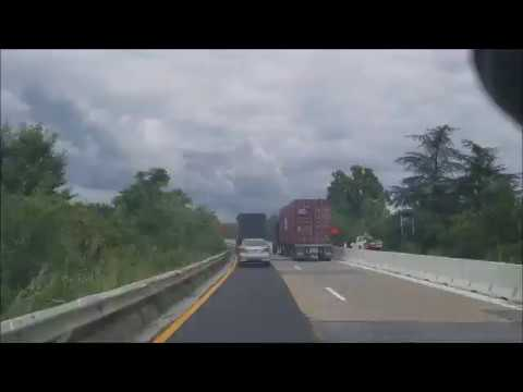 4K Driving From Delaware to Maryland on the i95 Intersate 95 Timelapse
