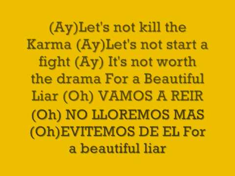 shakira & beyonce-Beautiful Liar (Lyrics)