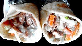সহজ চিকেন শর্মা রেসিপি - Bangladeshi Chicken Shawarma - Shawarma Kabab Ranna Recipe in Bengali