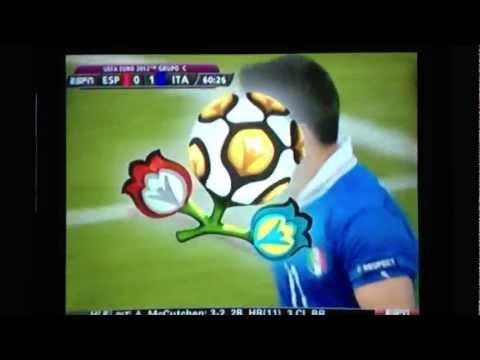 Antonio Di Natale Goal vs Spain