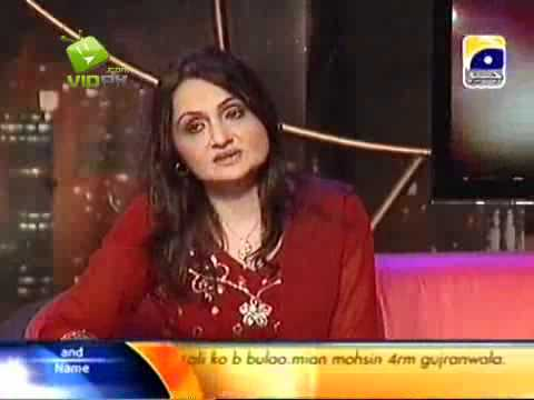 Singer Shazia Khushk & M Tauseef in The Sahir Show on Geo Tv...