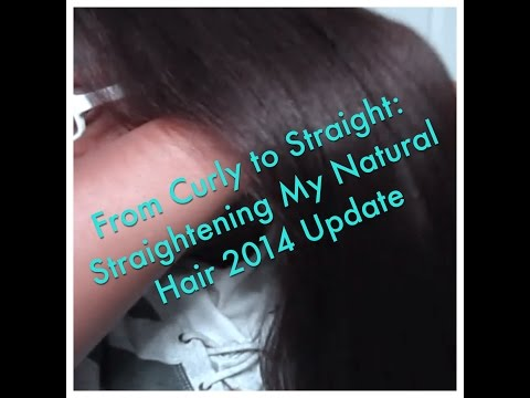 Curly to Straight: Straightening My Natural Hair 2014 Update