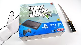 "PS3 ""GRAND THEFT AUTO V"" UNBOXING! PlayStation 3 Super Slim GTA 5 Console"