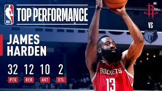 James Harden Drops a TRIPLE DOUBLE In Memphis | December 15, 2018