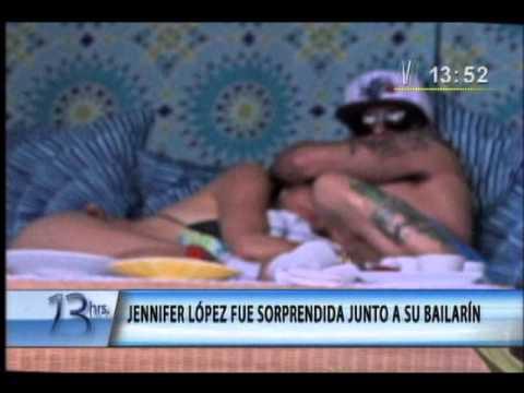 Jennifer López fue sorprendida junto a su bailarín