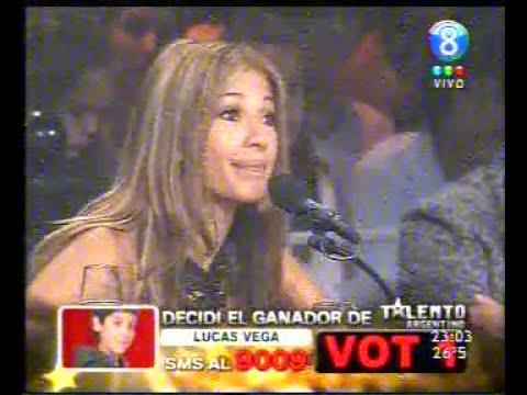 lucas vegas cantando en la final de talento argentino 14/12/08