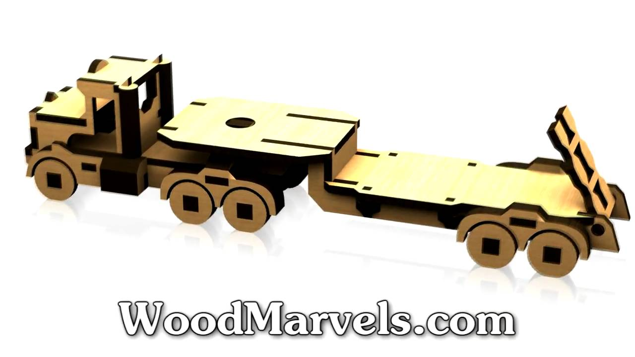 Working Build Your Own Wooden Truck