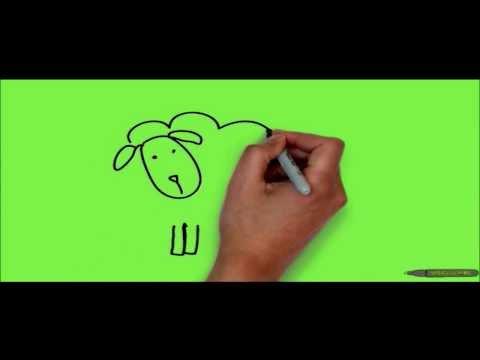 Видео как нарисовать овцу поэтапно