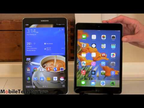 Samsung Galaxy Tab Pro 8.4 vs. Apple iPad mini with Retina Display Comparison Smackdown