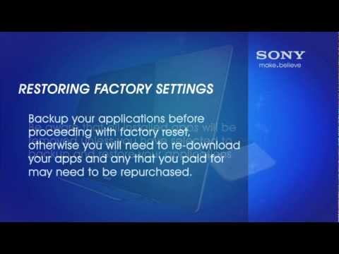 How to Reset the Sony® Internet TV with Google TV™ device to the