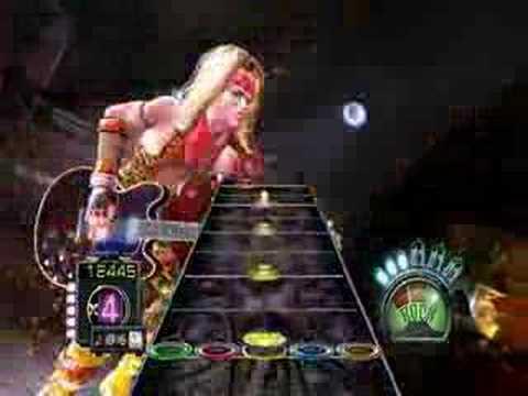 Guitar hero 3 Legends of Rock Jogando PC